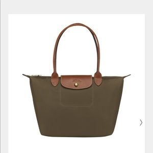Longchamp Le Pliage nylon tote bag in Khaki